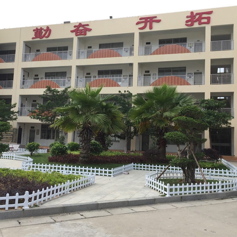 石狮锦尚小学PVC草坪护栏